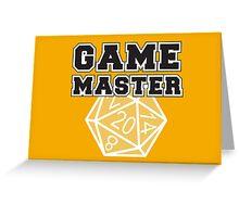 Game Master t-shirt Greeting Card
