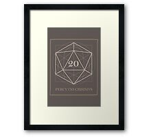 The perfect D20 Framed Print