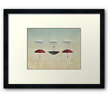 the black umbrella Framed Print