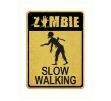 Allert Zombie Art Print