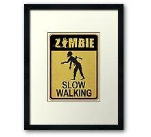 Allert Zombie Framed Print