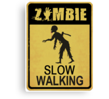 Allert Zombie Canvas Print