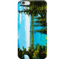 Yellowstone National Park Abstract Impressionism 3 iPhone Case/Skin