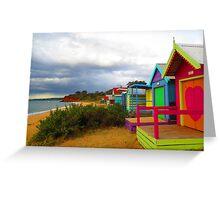 Mornington beach houses. Greeting Card