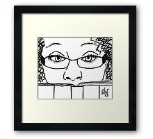 Reading Me! - Digital Sketch Framed Print