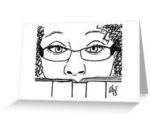 Reading Me! - Digital Sketch Greeting Card