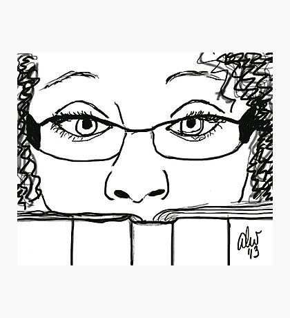 Reading Me! - Digital Sketch Photographic Print