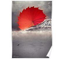 Origami II - Mount Fuji Japan Poster