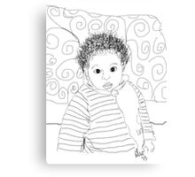 Mommie Can We Go Outside - Digital Sketch Canvas Print