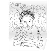 Mommie Can We Go Outside - Digital Sketch Poster