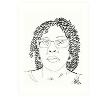 Twist-Out Do with As I Am Double Butter Creme - Digital Sketch Art Print
