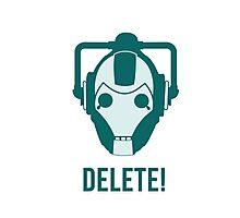 Cyberman 'Delete!' Photographic Print