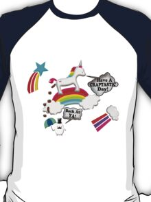 Unicorn And Penguin Craptastic Day T-Shirt