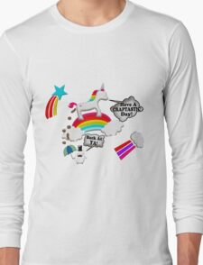 Unicorn And Penguin Craptastic Day Long Sleeve T-Shirt