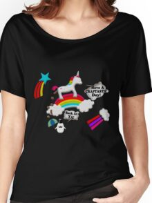 Unicorn And Penguin Craptastic Day Women's Relaxed Fit T-Shirt