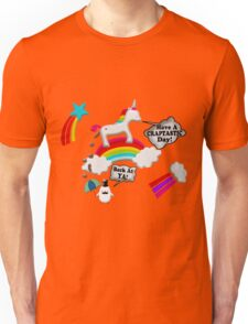 Unicorn And Penguin Craptastic Day Unisex T-Shirt