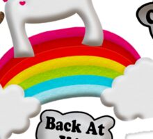 Unicorn And Penguin Craptastic Day Sticker