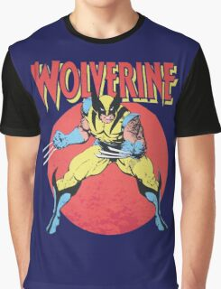 Wolverine Retro Comic Graphic T-Shirt