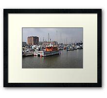 Survey Boat Framed Print