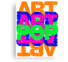 Colourful Pop Art Typography Canvas Print