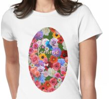 femme flowers Womens Fitted T-Shirt