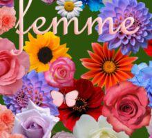 femme flowers Sticker