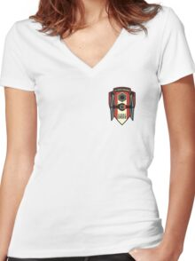 First Order Fighter Squadron Emblem Women's Fitted V-Neck T-Shirt