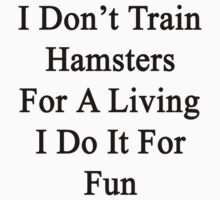 I Don't Train Hamsters For A Living I Do It For Fun  by supernova23