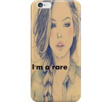 RARE GIRL iPhone Case/Skin