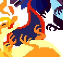 Pixel Mega Charizard X & Y Sticker Sticker
