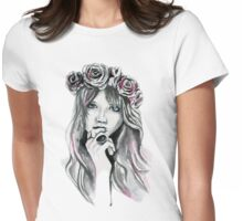 Abbey and her Flowers Womens Fitted T-Shirt