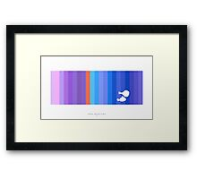 Finding Nemo/Dory FILM COLOR STRIP Framed Print