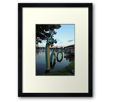 Look What Came Out of the Water  Framed Print