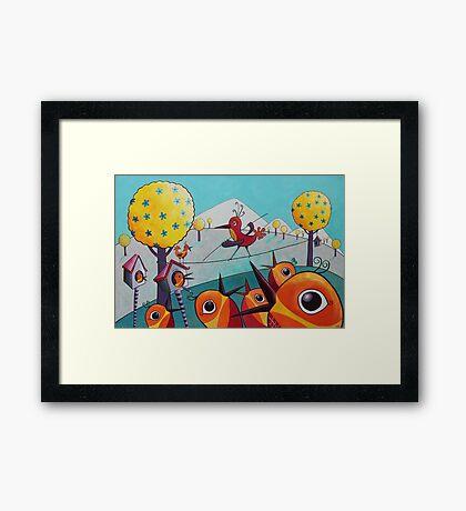Bird on a Tightrope Framed Print