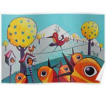 Bird on a Tightrope Poster