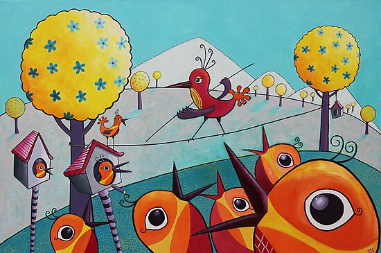Bird on a Tightrope by Margaret Krajnc