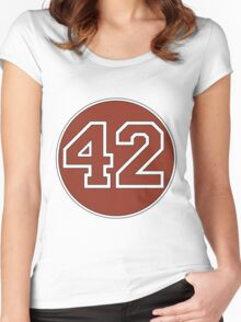 42 - red circle Women's Fitted Scoop T-Shirt