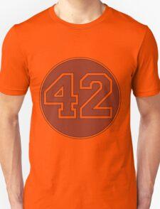 42 - red circle Unisex T-Shirt