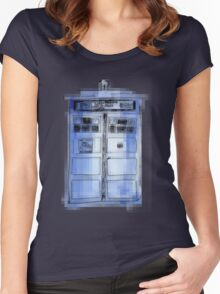 Tardis! Women's Fitted Scoop T-Shirt