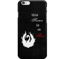 This Swan is on Fire (Black) iPhone Case/Skin