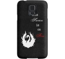 This Swan is on Fire (Black) Samsung Galaxy Case/Skin