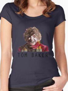 Tom Baker! Women's Fitted Scoop T-Shirt