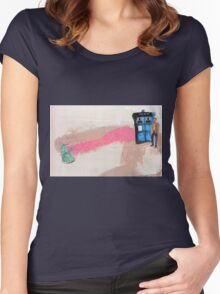 Doctor Who! Women's Fitted Scoop T-Shirt
