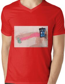 Doctor Who! Mens V-Neck T-Shirt