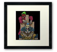 The Joker vs Batman Framed Print