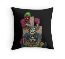 The Joker vs Batman Throw Pillow