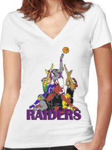 RAIDERS Women's Fitted V-Neck T-Shirt