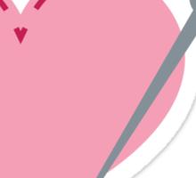 I love stitches! cute needle stitching a heart Sticker