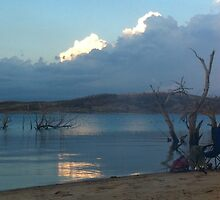 Thunderstorm skirts our camp on Lake Eucumbene by eucumbene
