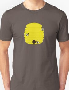 Beehive with 3 busy bees T-Shirt